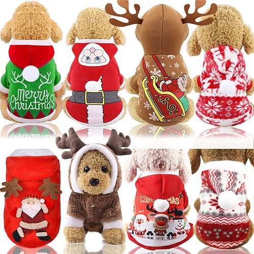 New Dog Clothes Halloween Costumes Dogs Cat Hoodies Chihuahua Winter Dog Coat Pet Clothing Small Dogs Cats Clothes Christmas