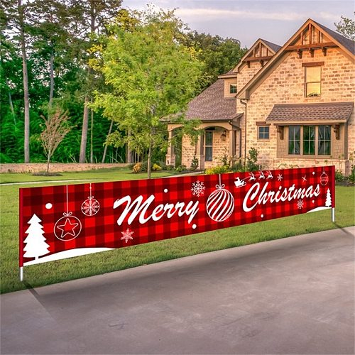 3*0.5M Merry Christmas Banner Christmas Decorations for Home Outdoor Store Banner Flag Pulling 2021 Navidad Natal Banner