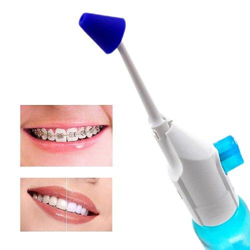2pcs Nozzles Portable Oral Irrigator Pressure Dental Water Jet Flosser Nasal Irrigators Mouth Denture Tooth Cleaner 180ml