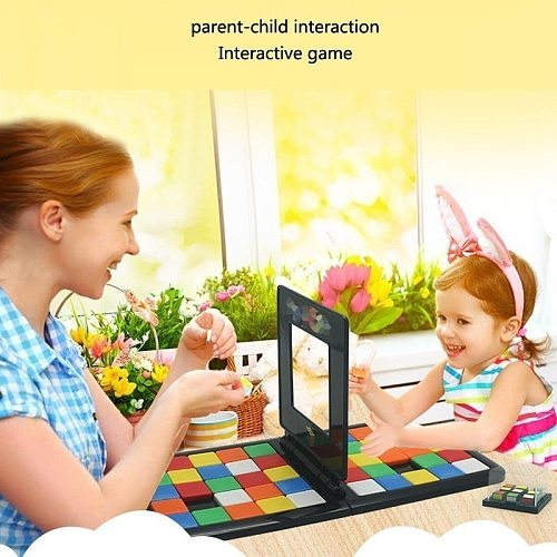 Magic Block Game Race Board Game Magic Cube Education Parent-child Activity Board For Kids Funny Family Party Game Birthday Gift