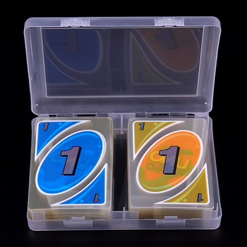 108/Set With A Box Waterproof And Pressure Proof PVC Plastic Transparent Playing Card Family Entertainment Game