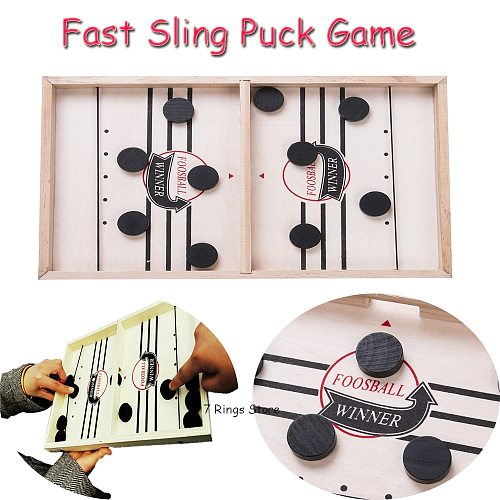 Fast Sling Puck Game Winner Board Games Toys Party Parent-Child Family Interactive Fun Toy Wood Chessboard Chess Games S/L Size