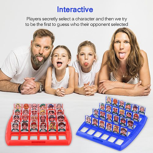 Family Guessing Games Who Is It Classic Board Game Toys Memory Training Parent Child Leisure Time Party Indoor Games Props Xmas