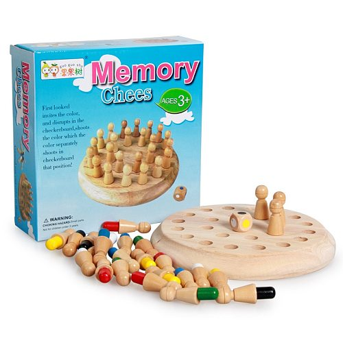 Kids Toys Puzzles Family Games Brain Teaser Education Toys for Children Montessori Wooden Toys Memory Match Chess Game Gift
