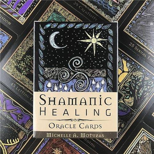 Tarot Cards  Shamanic Healing Oracle Cards Tarot Guidance Divination Fate Deck Board Games For Family Party Supplies