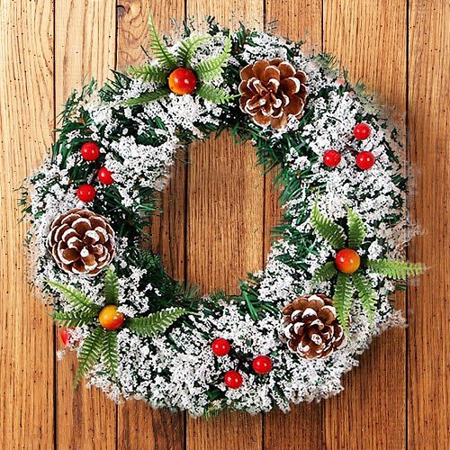 Wall Hanging Christmas Wreath Decoration For Xmas Party Door Garland Ornament Home Decor Holiday Accessories Party Drop Ornament