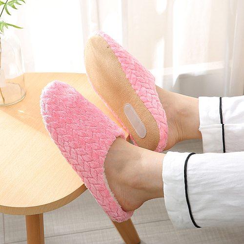 Women Indoor Slippers Warm Plush Lovers Home Slipper Anti Slip Autumn Winter Shoes Woman House Floor Soft Slient Slides SH072701