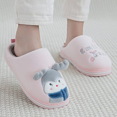 Winter Slippers Comfortable Warm Shoes Female Cotton Rabbit Thick Sole Indoor Bedroom Home Children Couple Women Man Slippers