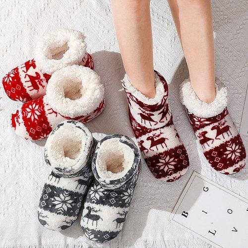Winter furry slides Women Slippers Warm Plush Flip Flops Christmas Cotton Indoor Home Shoes Floor Shoes Claquette Fourrure 2020