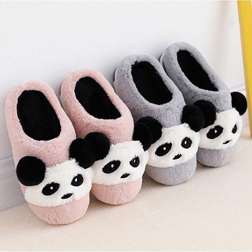 Winter Shoes Kids Cotton Slippers Cartoon Style Warm Faux Fur Children indoor Slippers Boys Girls Warm Floor Slides KD10042