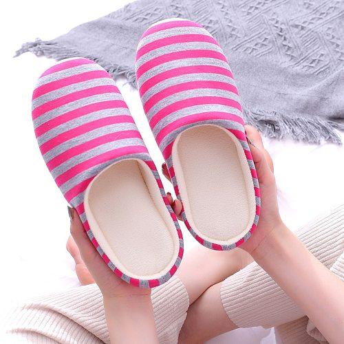 Women Indoor Slippers Soft Bottom Home Slipper Spring Autumn Bedroom Slides Striped Slip On Female House Floor Flat Shoes