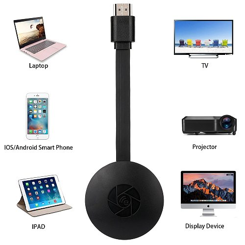 HDMI HD TV Stick Wireless WiFi Display TV Dongle Receiver Airplay YouTube Media Streamer Adapter Media Support HDMI Miracast HDTV Display Dongle