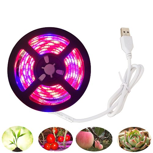 5V USB LED Grow Light Full Spectrum LED Strip Light waterproof 5050 60led Chip Phyto Lamps For flower Greenhouse Plant Grow