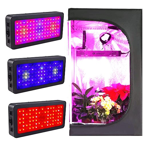 Growing Tent Full Set And Double Switch LED Plant Growin Light For Indoor Hydroponic Flower Greenhouse Seedling Tent Phyto Lamp