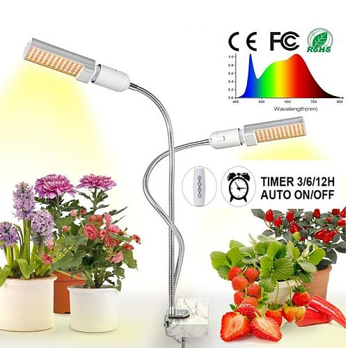LED Plant Grow Light Dimmable Full Spectrum for Indoor seedling Vegetable Flower lamp With Timer Switch USB Plug phyto lamp