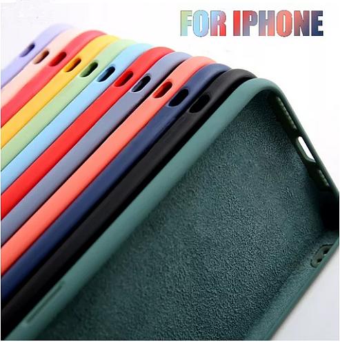 Original Liquid Silicone Luxury Case For Apple iPhone 11 12 Pro Max mini 7 8 6 6S Plus XR X XS MAX 5 5S SE Shockproof Case Cover