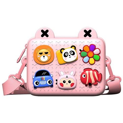 Kids Crossbody Toddler Purse Cute Shoulder Messenger Bags Children Handbag for Boys Girls Removable DIY Cartoon Deco 2020 New