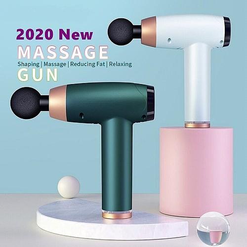 2020 New USB charging Mini Massage Gun Deep Muscle relax Vibration Relief Soreness Slimming Shaping Mute Brushless Motor Massager