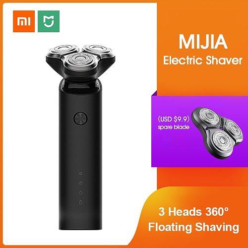 Xiaomi Mijia Electric Shaver Razor Shaving Beard Machine for Men Dry Wet Beard Trimmer Rechargeable washable 3D head Dual Blades
