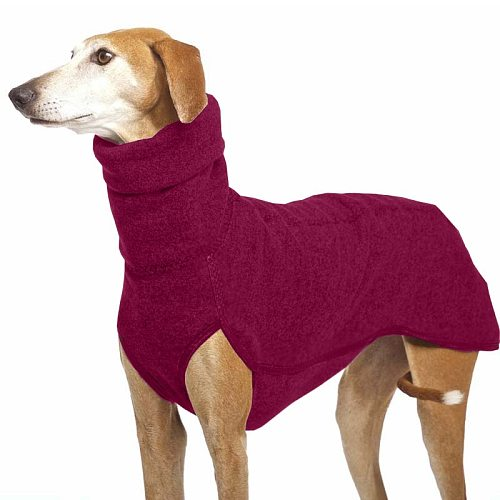 7 Color Dog Clothes Winter Keep Warm Solid Outdoor Dog Sweater High Collar Pet Jacket for Medium Large Dogs Golden Retriever