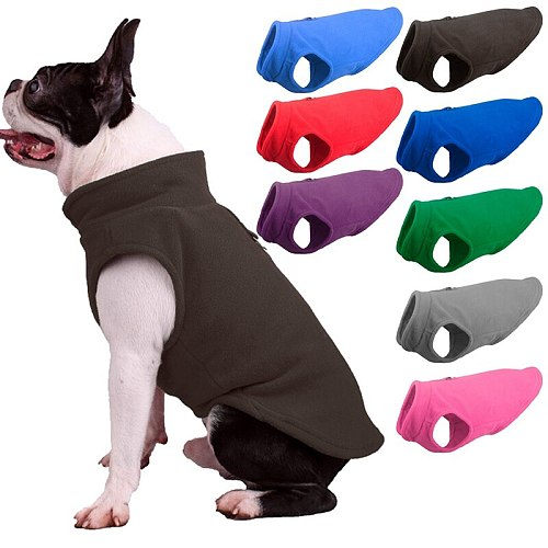 Dog Vest Soft Fleece Clothes for Small Dogs Solid Candy Color Dog Tshirt With Dog Harness Leash D-Ring Pug Yorks Coat