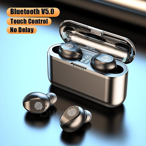 TWS Bluetooth Earphones For Phone Touch Control LED Power Display Wireless Headphones Earbuds with Mic Sports Waterproof Headset