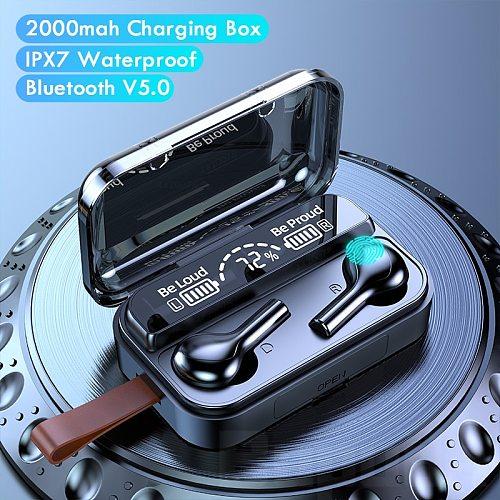 TWS 5.0 Wireless Bluetooth Earphones Sport Waterproof 9D Wireless Headphones Headset Touch Control Music Earbuds with Microphone