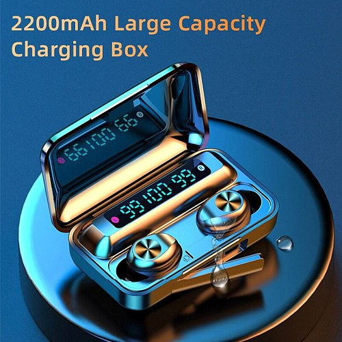 Bluetooth V5.0 Earphones Wireless Headphones With Microphone Sports Waterproof Headsets 2200mAh Charging Box For iPhone Android