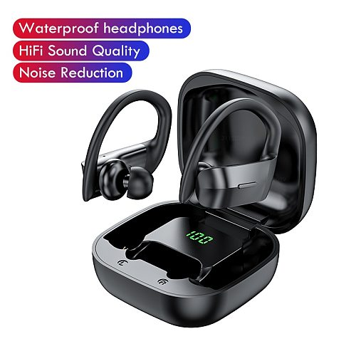 Wireless Bluetooth Earphone 5.0 Sports Waterproof Headphone Touch Control HiFi Tws Earbuds Headsets наушники with charg case