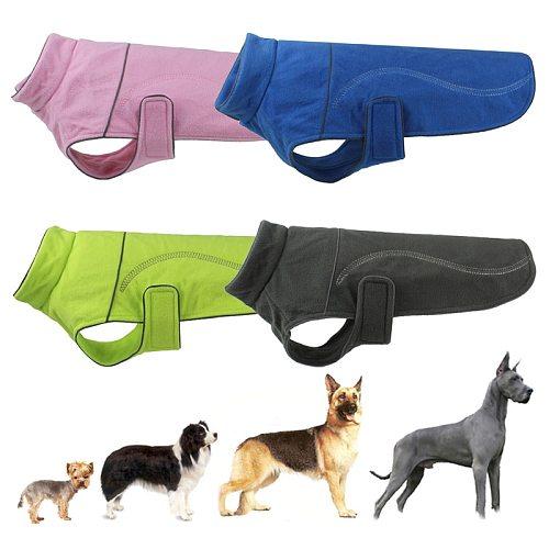 Winter Warm Fleece Pet Dog Vest Jacket Reflective Dog Clothes for Small Large Dogs Chihuahua Pitbull Coat Puppy Big Dog Clothing