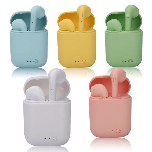 Mini-2 TWS Wireless Earphones Bluetooth 5.0 Earphone TWS Matte Macaron Earbuds With Mic Charging Box Headset Wireless Headphones