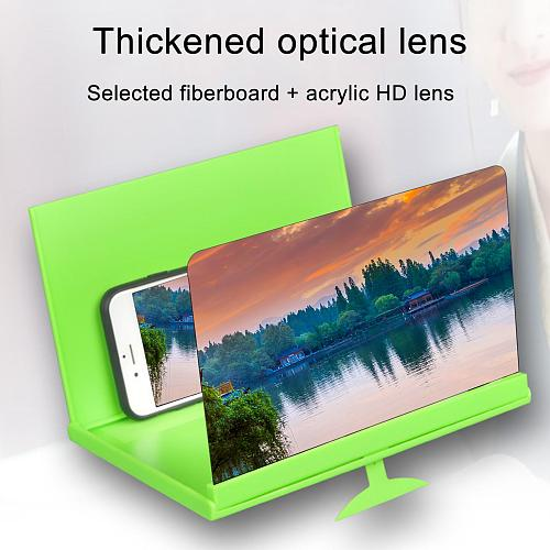 8 inch Folding Cell Phone Screen Magnifier Protection HD Video Amplifier Large Screen Cell Phone Bracket Holder