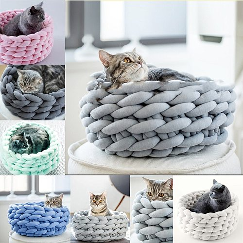New Cored Cotton Machine Washable  Material DIY Coarse  Pet Bed Look Beautiful and Feel Comfortable Suitable for Small Pet