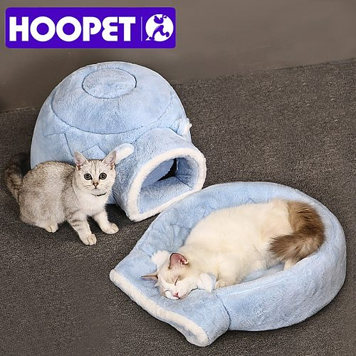 Pet Cat Bed Winter Warm House For Cat Puppy Pet Cat Baske Round Cushion Bed  Pet Accessories