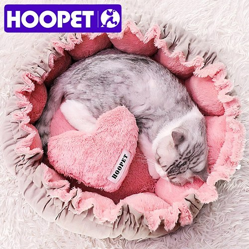 Cat Cute Pink Bed Warm Puppy Dog Bed Mat Autumn/Winter Lovely House for Cats