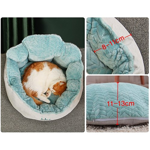Pet Cat Dog Bed Winter Warming Dog House Soft Material Cloud Style Cat Nest Pet Cushion For Cats For Small Dogs