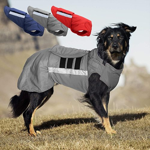 Waterproof Dog Winter Coat Warm Big Dog Jacket Vest Pet Clothes For Medium Large Dogs Husky Labrador Outfit Pets Clothing Perro