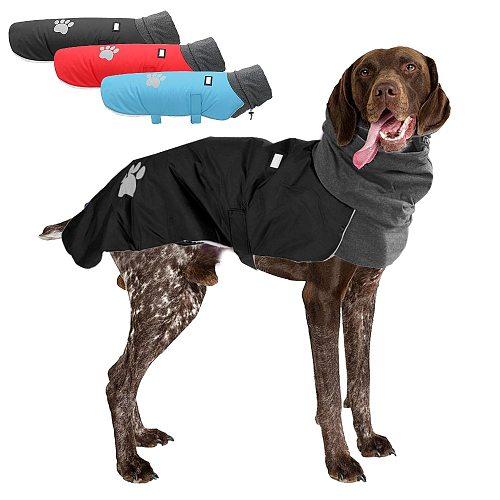 High Collar Pet Dog Jacket Clothes Warm Big Dog Coat Clothing Winter Clothes For Medium Large Dogs Greyhound Great Dane Labrador