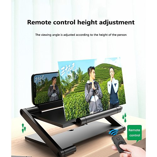 8 Inch Mobile Phone 3D Screen Video Screen Amplifier Folding Curved Enlarged Smartphone Movie Amplifying Projector Stand Bracket