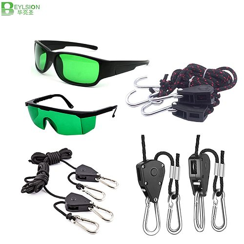 1/4 1/8 Inch Adjustable Nylon Rope Hangers Lamp LED Grow Room Glasses Eye Protect Glass For LED Grow Light Growing Tent