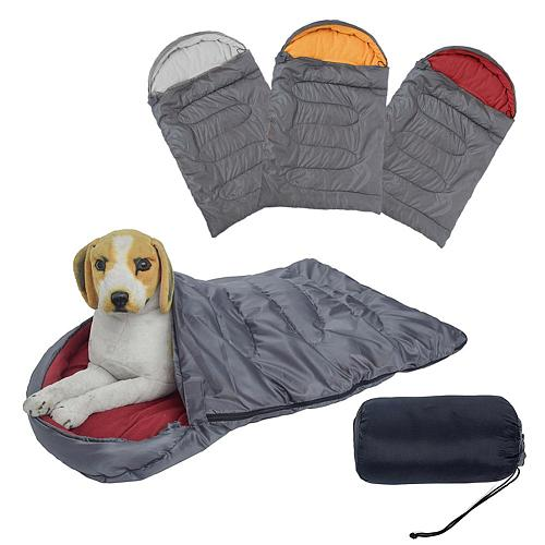 Large waterproof dog sleeping bag pet bed backpack warm dog pad with portable storage bag indoor outdoor travel 45 x29