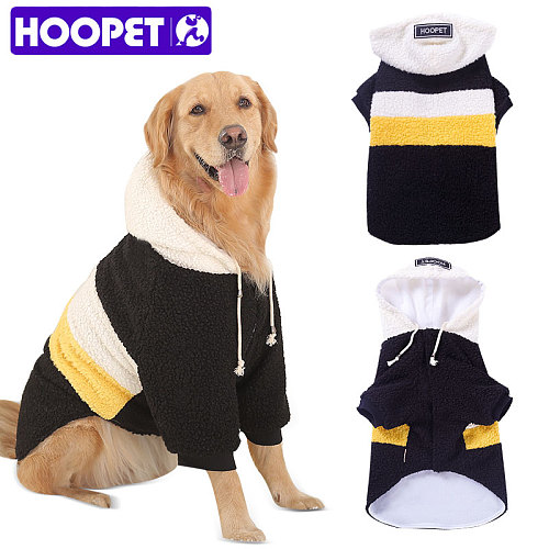 Pet Big Dogs Autumn and Winter Wear Warm Clothes Walking Dress Two Feet