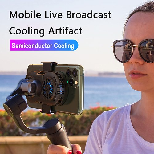 Newest Mobile Phone Cooler 3-Level Phone Heat Sink Cooling Double Fan Pad Gamepad Controller For IPhone Huawei Samsung Radiator