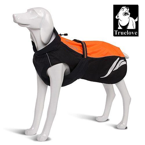 Waterproof Reflective Stripe Dog Coat Vest Outdoor Walking Dog Raincoat Nylon Pet Jacket For All Weather Breed in stock
