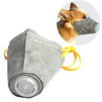 3pcs/box Dog Soft Face Mask Pet Respiratory Cotton Mouth Filter Anti Dust Gas Pollution Muzzle Anti-fog Haze Masks For Dogs