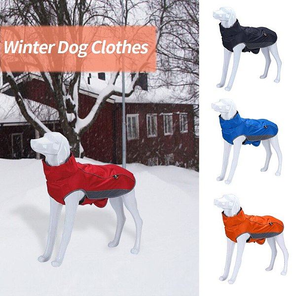 Waterproof Pet Dog Clothes Jacket Coat Winter Soft Warm Fleece Retriever Thickening Cotton Dog Clothes For Medium Large Dogs