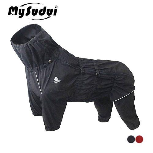 Waterproof Dog Coat Jacket Raincoat Reflective For Medium Large Dogs Outdoor Winter Warm Pet Dog Clothes Big Jumpsuit