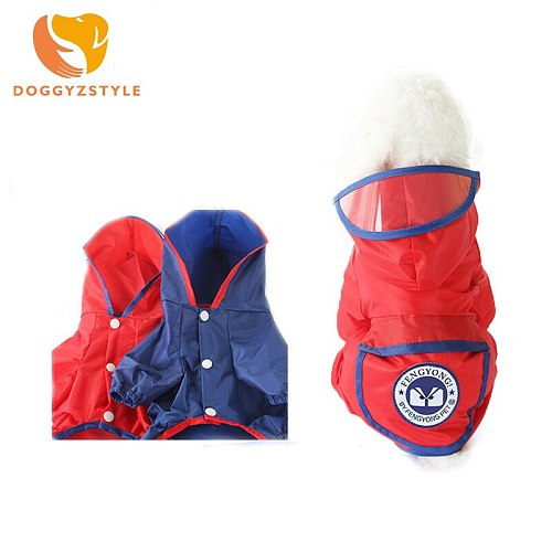 New 6 Colors Summer Small Medium Large Dog Raincoat Puppy Waterproof Clothes Cute Size XS-XXL Size Pet Jumpsuit DOGGYSTYLE