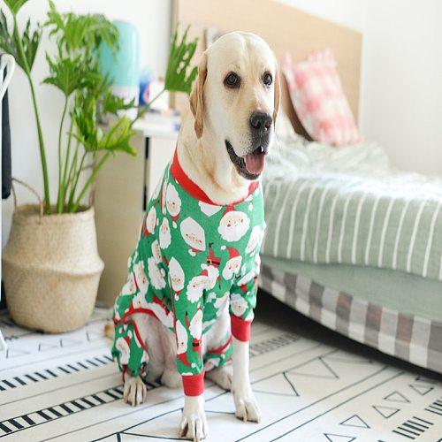 Cute Christmas dog clothes Dog pajamas Soft Christmas pajamas Big dog pajamas