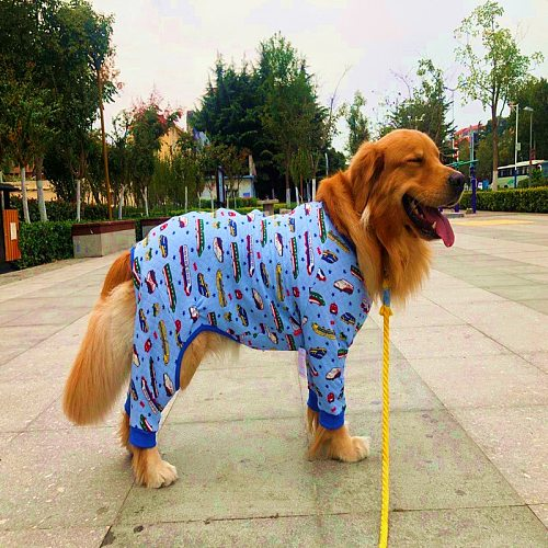 Large dog pajamas Dog warm pajamas Big four-legged dog costume Golden retriever bulldog big dog clothes
